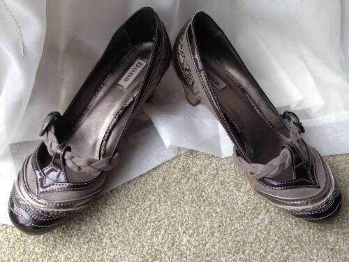 Brown Eu Ladies Taupe 8 Court Jane Mary Leather Dune Uk Suede Pewter scarpe 41 qaarE7w