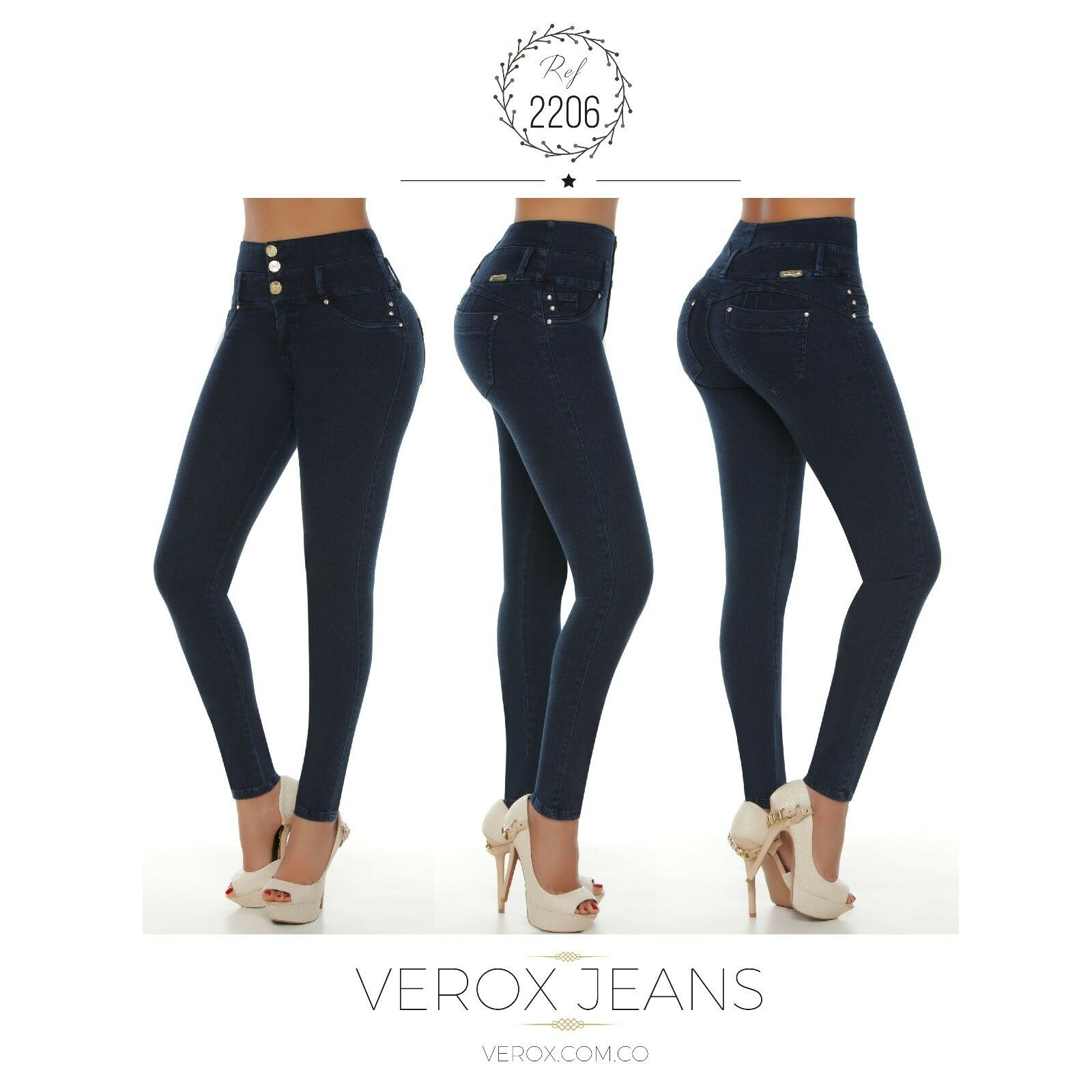 Verox Jeans colombianos butt lifter fajas colombianas jeans levanta cola 2206