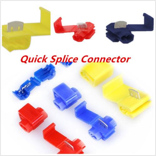 Quick Splice Wire Connectors Terminals ELECTRICAL WIRE CONNECTORS 3Colors 4Sizes
