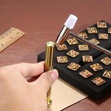 26* Leather Stamp Alphabet Letter Gold Punch Set Logo Stamp Craft DIY Tool Kit