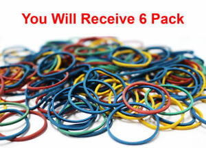 500 X ELASTIC HAIR BANDS BRAIDING RING RUBBER TINY POLY SMALL MULTI COLOUR