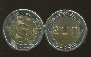 ALGERIA-200-DINARS-034-50-Years-Independence-034-2012-COIN-UNC