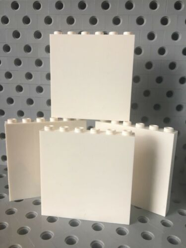Lego 1x6x5 White Wall Panel Elememt New Lot Of 4