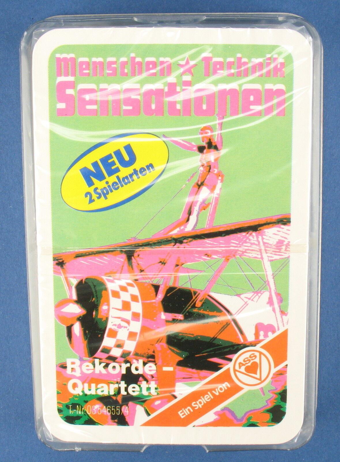 Rekorde-Quartett - Doppeldecker - ASS - Nr. 03 54655 4 - von 1980 - NEU in Folie