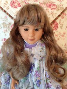 "NEW Monique SARA MAY Lt Strawberry Blonde Doll Wig, Sz 14-15 fits My Twinn 23"""