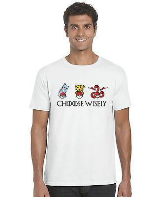 Game of thrones pokemon nobles maisons cadeau parodie inspiré unisexe t-shirt