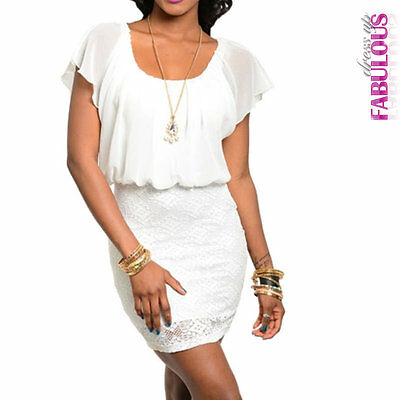 New Womens Lace Mini Dress Necklace Evening Occasion Size 2 4 6 8 10 XS S M