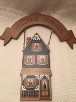 Welcome Friends House Banner Sign/plaque Wall Hanging Tender Heart Treasures