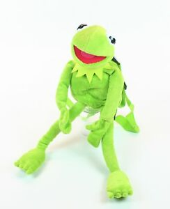 THE-MUPPETS-plush-KERMIT-the-frog-16-034-soft-toy-small-promotional-backpack-NEW