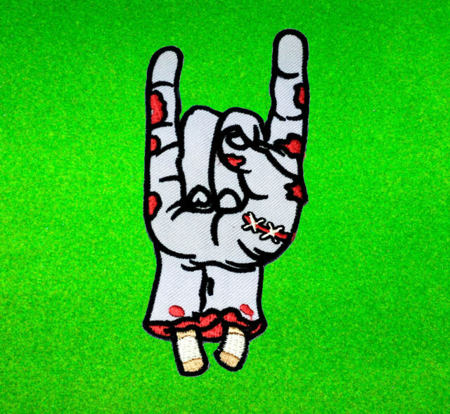 Rock Symbol Zombie Hand Green Heavy Metal Jacket Embroidered Iron On