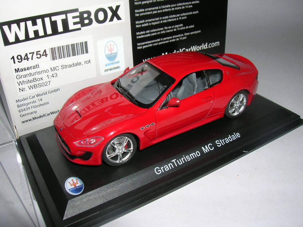 Whitebox Maserati Ganturismo Mc Stradale Red, 1 43 Item WBS027