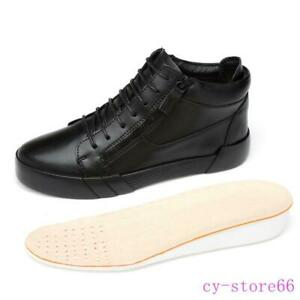 Leather Men Shoes Fashion Design Lace Up High Top Sneaker Boots Zipper Boarding
