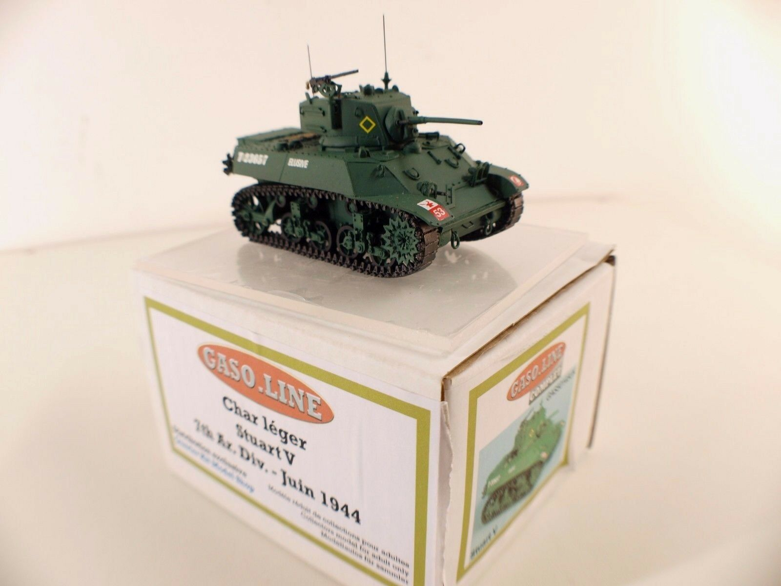 Gaso.line Gas50145uk Tanque Ligero Stuart V 7th Ar.div. Jun 1944 Nuevo Caja Mint