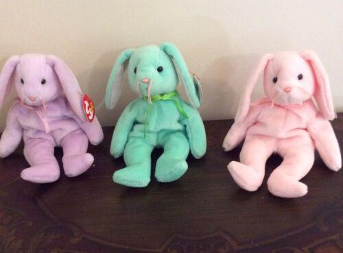 Hippity and Floppity Bunnies Lot Of 3 TY Original Beanie Babies Hoppity