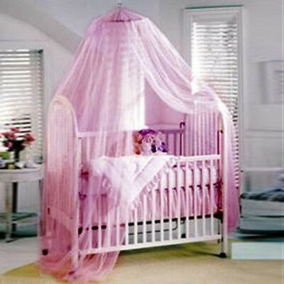 For Baby New Pink Canopy Holder Cot Bed Pole Rod Bar Clamp Drape Mosquito Net