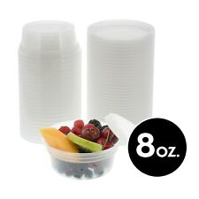8oz Food Storage Meal Prep Container Clear Plastic Soup Deli With Lid 24 240 Pack