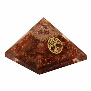 Extra-Large-Carnelian-Stone-Orgonite-70-75mm-Orgone-Gemstone-Pyramid-X-large