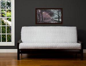 image is loading wavelength white black stripe solid contemporary sis futon  wavelength white black stripe solid contemporary sis futon cover      rh   ebay