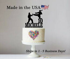 Image Is Loading Karate Cake Topper Decor S Female