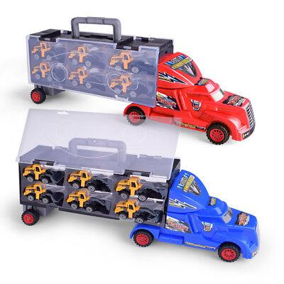 Autotransporter Truck Laster Autos LKW mit 12 Bagger Spielzeug XXL Transporter