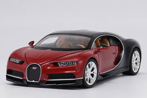 Welly-1-24-Bugatti-Chiron-Red-Diecast-Model-Car-Vehicle-New-in-Box