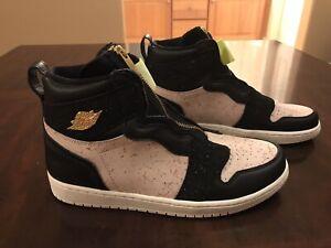 New-Nike-Air-Jordan-1-High-Zip-Pink-Sneaker-Shoes-Size-US-9-5