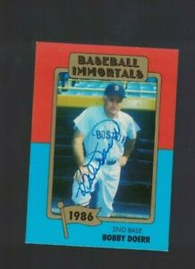 Bobby Doerr Boston Red Sox Signed Immortals Baseball Card W/Our COA