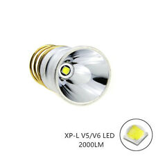 CREE XPL V6 LED 2000Lums 3.7-18V 1.8A Bulb 1-Mode Flashlight Lamp for SureFire