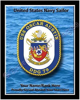 USS Oscar Austin DDG-79 Ship Patch Full Color