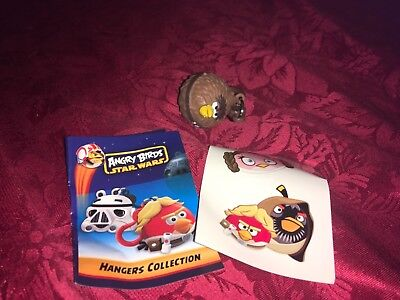 ANGRY BIRDS STAR WARS CHEWBACCA HANGER KEY CLASP WITH STICKERS AND LEAFLET new