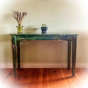 Image Is Loading Shabby Chic Entryway Table Green Accent Table Sofa