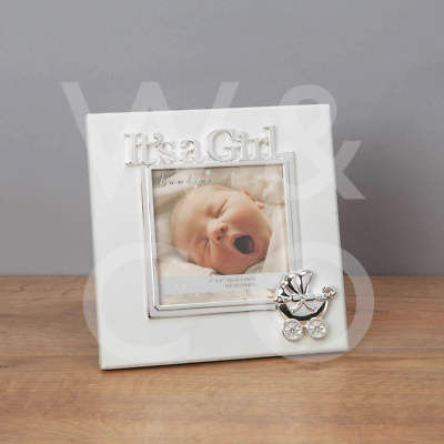 Beautiful Its A Girl Photo Frame In Gift Box CG1360 Baby Girl Gift