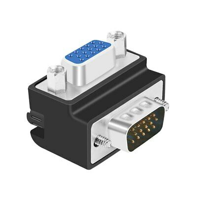 90 Degree Right Angled VGA Male To Female Extension Extender Video Adapter