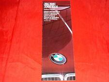 Bmw 3er e30 316 318i 320i 323i colores + acolchado VSACURVATURETYPE folleto de 1/1983