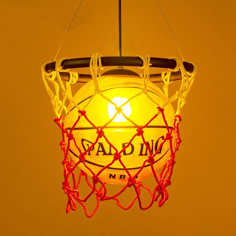 Basketball Pendant Lamp Ceiling Light for Kid's Room Bedroom