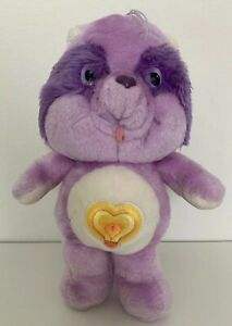 Bright Heart Raccoon Vintage Care Bear 13 inch Plush Toy Stuffed Kenner 1983