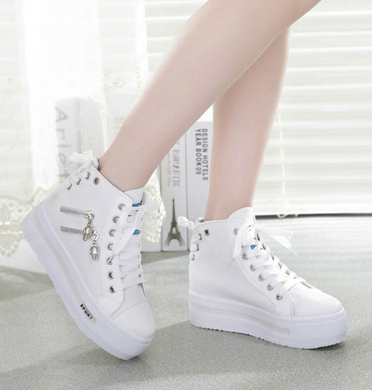 Women Canvas shoes Platform sneakers Sports Running traveling shoes 3color