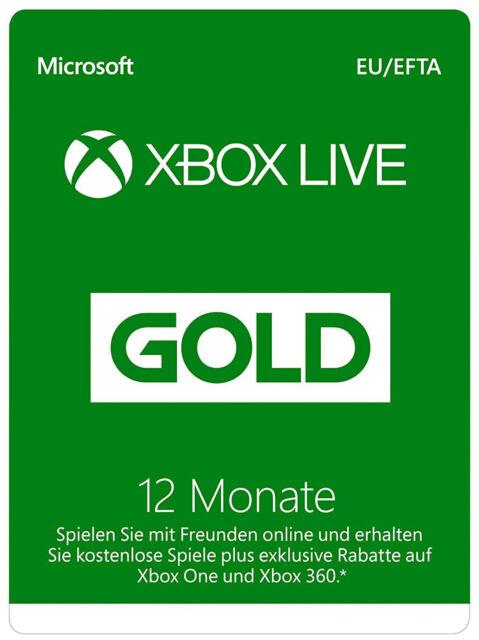 Xbox Live Gold Mitgliedschaft   12 Monate   Xbox Live