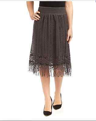 Pretty Angel Size S, Skirt With Fringe in Dark Gray 27139 $44.00