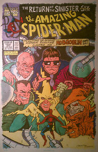 Other Original Comic Art Amazing Spider-man 337 11x17 Color Cover Recreation By Crnbrd Modern Techniques Comics