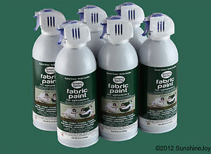 Image Is Loading Upholstery Fabric Spray Paint 6 Pack Hunter Green