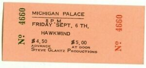 HAWKWIND 1974 CONCERT TICKET PHOTO DETROIT MICHIGAN PALACE USA Lemmy Kilmister
