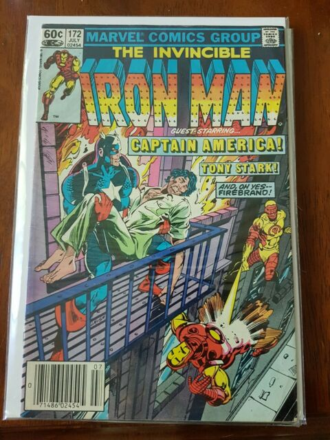 Marvel Comics Invincible Iron Man Issue 172 Guest Starring Captain America 1983