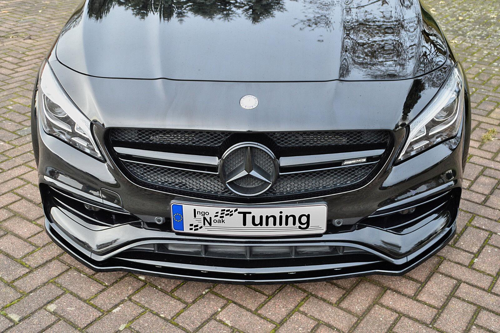 Cup Spoilerlippe V.2 Mercedes CLA A45 AMG C117 Facelift schwarz matt