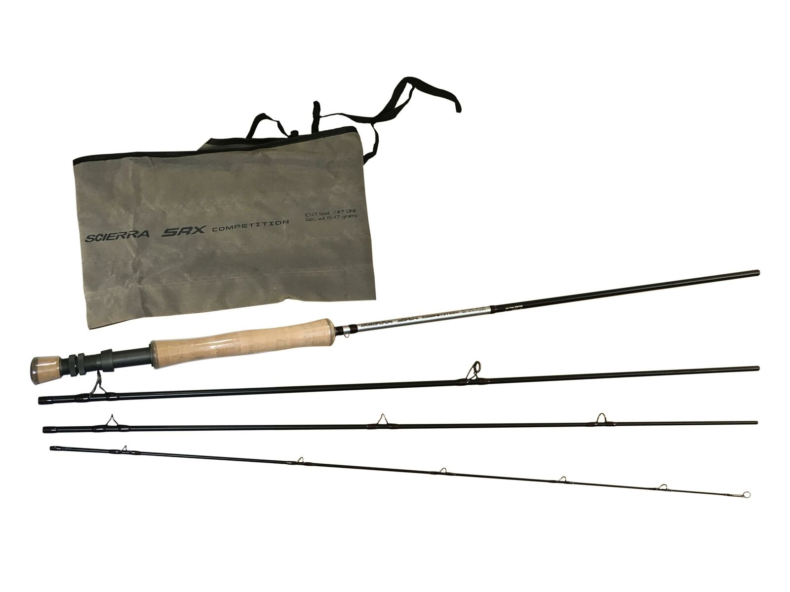 Scierra SRX Competition 10ft 4pc Fliegen Rods FREE Line worth