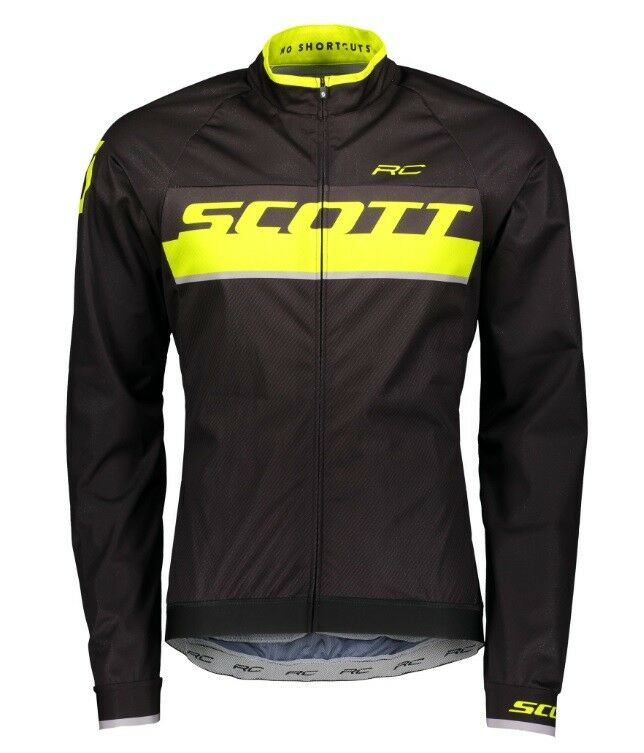 Mantellina Scott RC PRO WB nero giallo Sulphur MANTLE SCOTT JACKET RC PRO WB