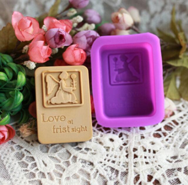 Angel Flexible Silicone Handmade Craft DIY Artifact Candy Soap Mold 70ml #B3V