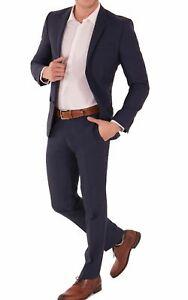 Details zu Daniel Hechter Slim Fit Herren Baukasten Anzug in Blau oder Schwarz (100102)