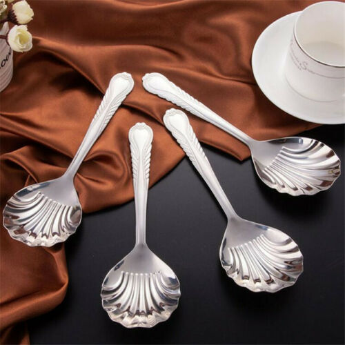 Shell Shaped Stainless Steel Table Rice Spoon Dining Kitchen Cooking Utensils MP