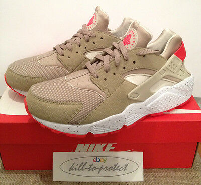 Nike Air Huarache Beige Crimson Us Uk 7 8 9 10 11 12 Laser Qs 318429 226 2014 Ebay